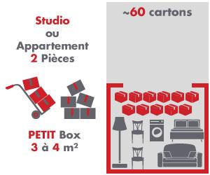 box 3 à 4m²