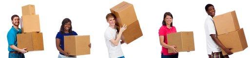 déménagement dans un box