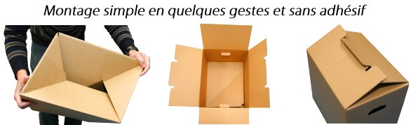 achat carton d m nagement 6 dimensions de cartons pour. Black Bedroom Furniture Sets. Home Design Ideas